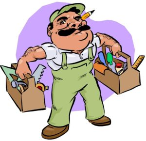 this-morning-we-had-a-handyman-come-over-to-fix-up-a-few-things-around-gXp9ea-clipart
