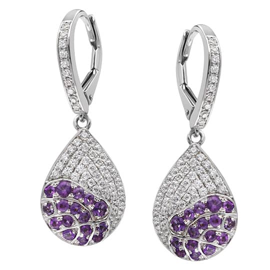 Floral Collection Amethyst Teardrop