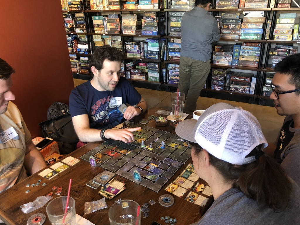Luis Galvan is playing the eighth edition of Wiz-War and deciding whether to purchase it for his own collection