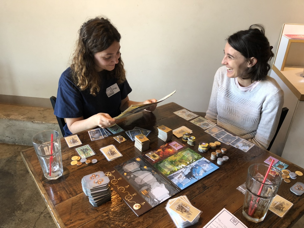 Visitors from France are learning a new game