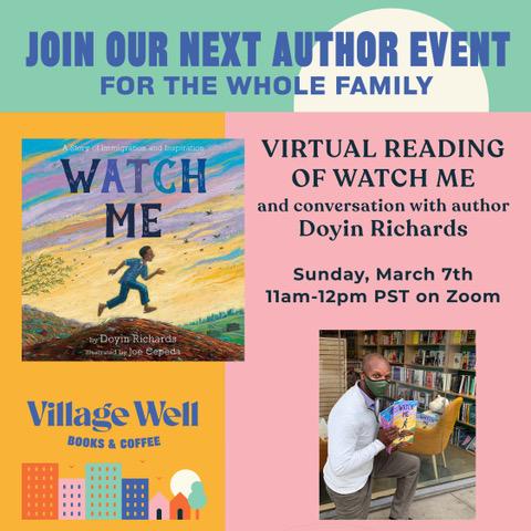 Virtual Reading of Watch Me - Doyin Richards