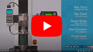 motorized test stand esm1500 video thumbnail