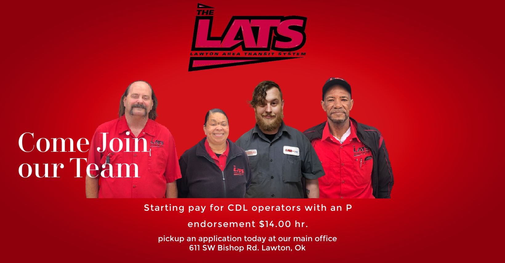 Come be part of our team