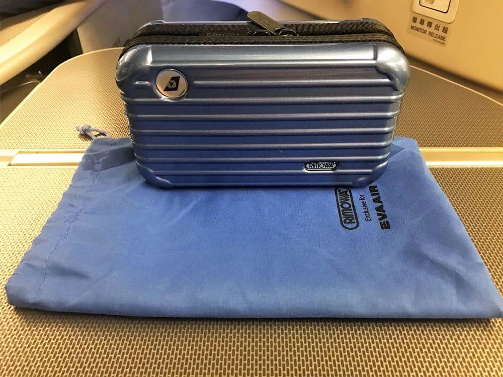 Eva's Business Amenity Kit comes in mini suitcase