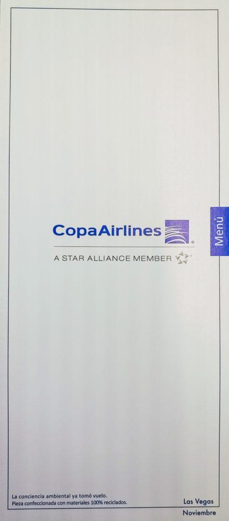 Copa Air Biz Menu