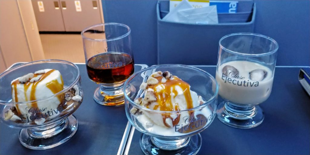 Copa Business Class Ice Cream Sundae