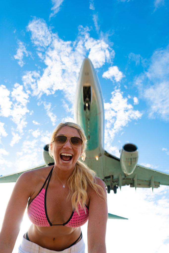 Maho Beach SXM Plane Spotting