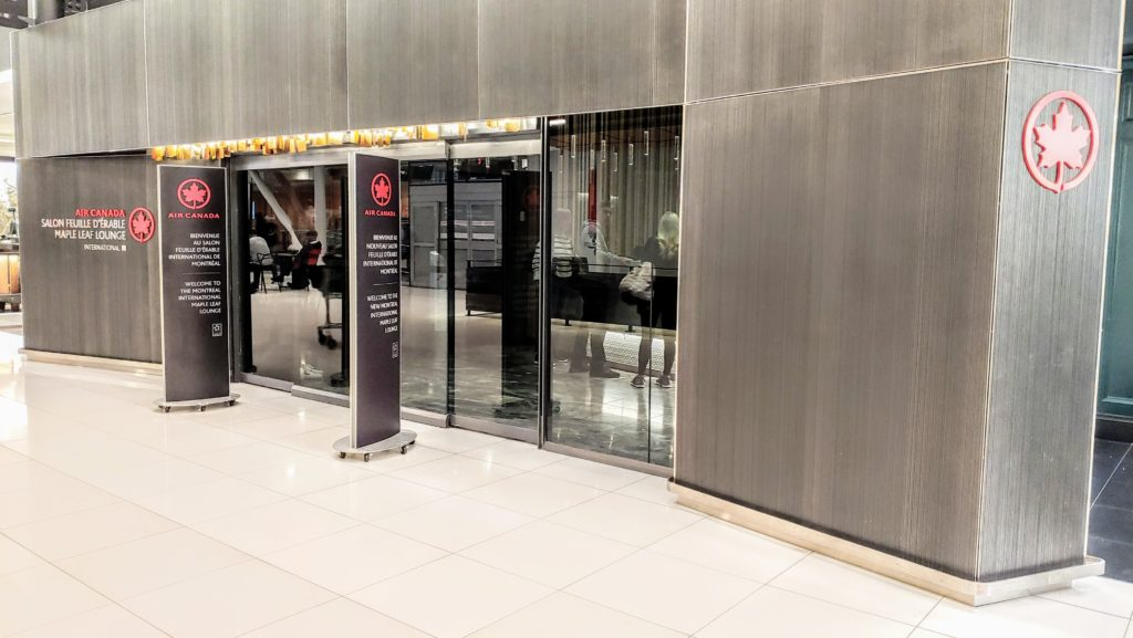 Entrance Air Canada Maple Leaf Lounge Montreal