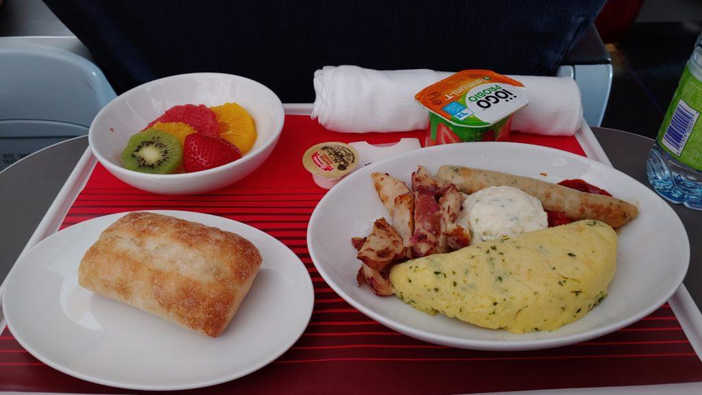 Breakfast Air Canada Rouge