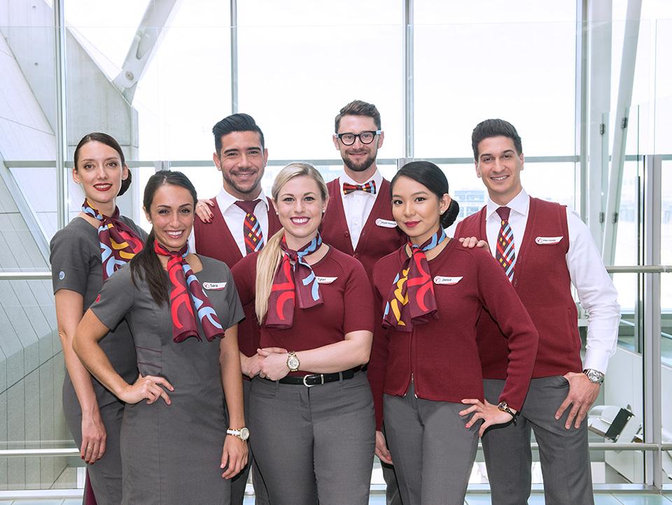 Air Canada Rouge Uniforms