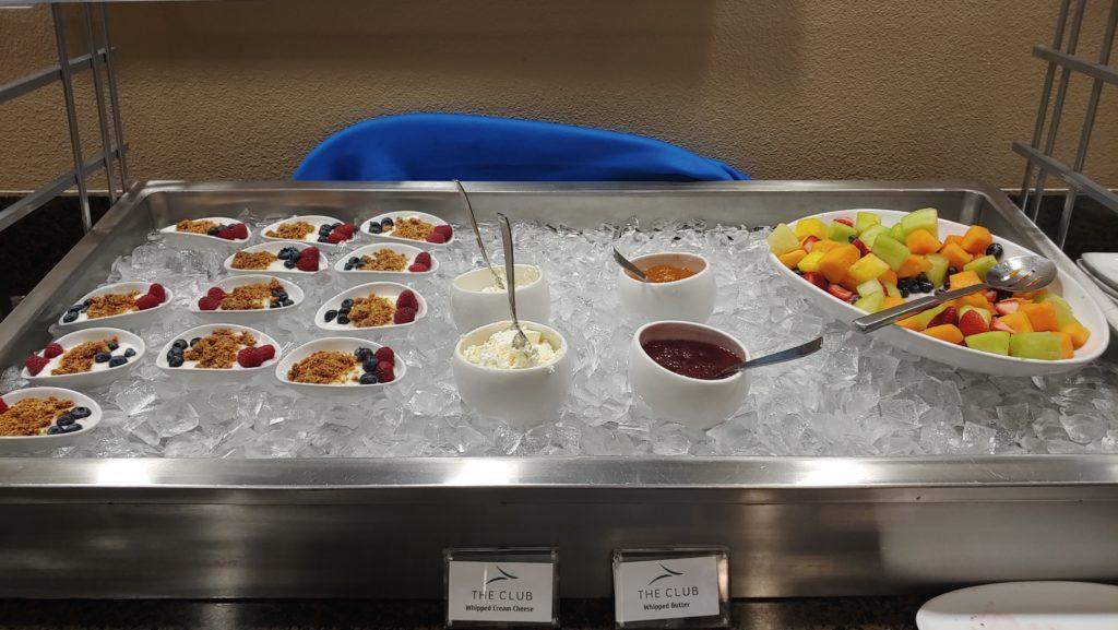 Fruit and Yogurt Business Class Lounge