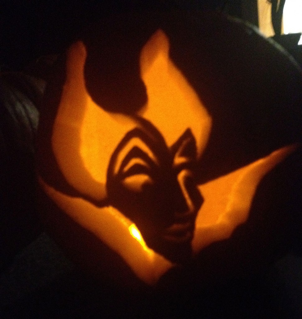 Maleficient Pumpkin Carving