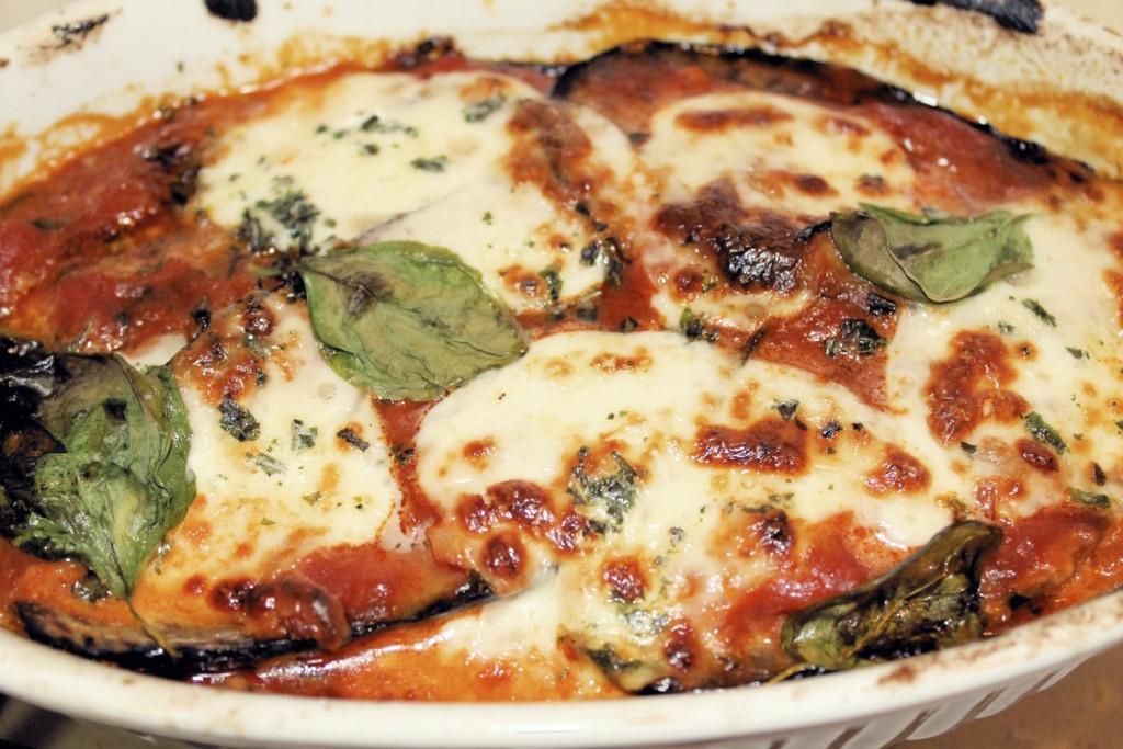 Eggplant Parmesan Layering