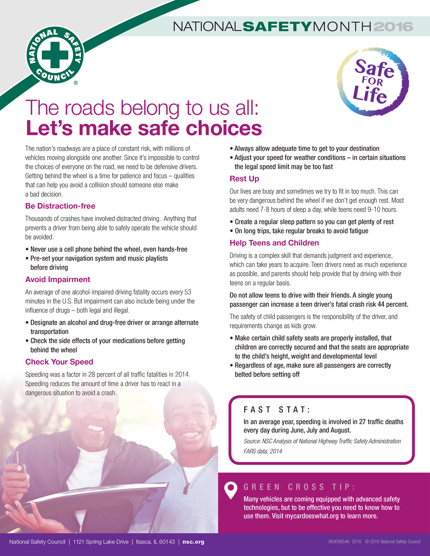 The roads belong to us all: Let's make safe choices