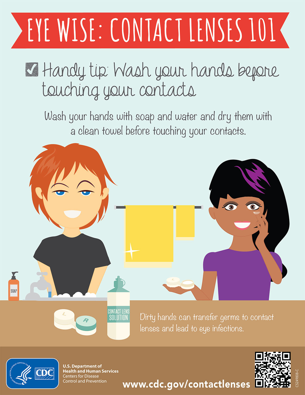 Your Contacts and Handwashing