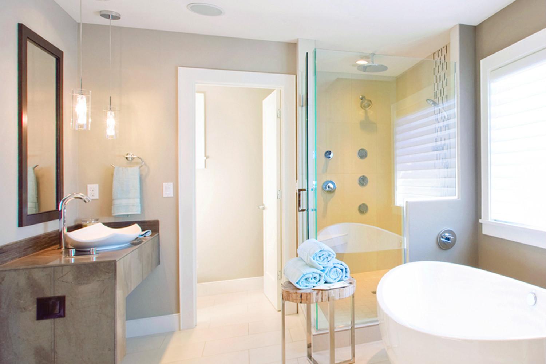 Bright, Safe Bathrooms