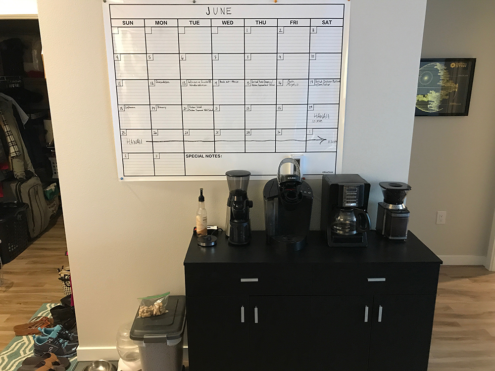 Coffee Bar and Calendar