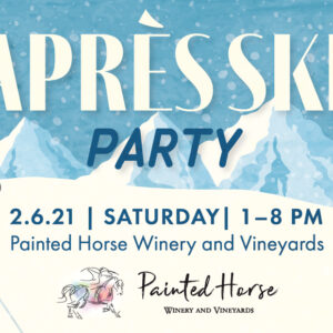 apres ski party event banner for february 6th