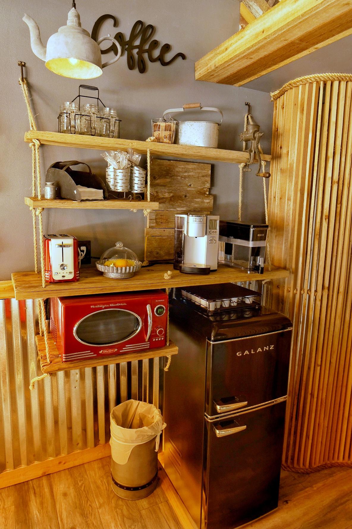 kitchenette at rockwood waters fredericksburg