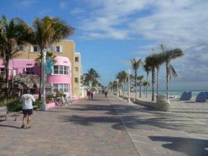 Hollywood Beach in South Florida