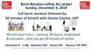 Barre Bonanza Dec 2019