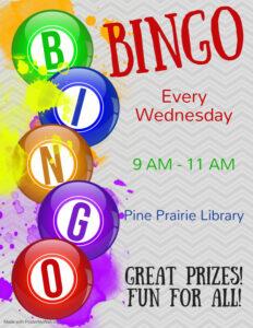 Pine Prairie-Bingo @ Pine Prairie Library