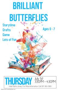 Brilliant Butterflies @ Main Library (Ville Platte)