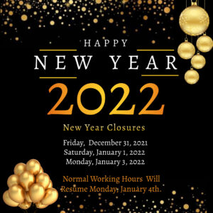 New Year Closures
