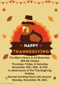 THANKSGIVING DAY CLOSURES