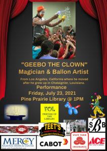 Geebo the Clown (Pine Prairie) @ Ville Platte Main Library