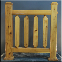 The Forester Square Custom Wood and Log Railings