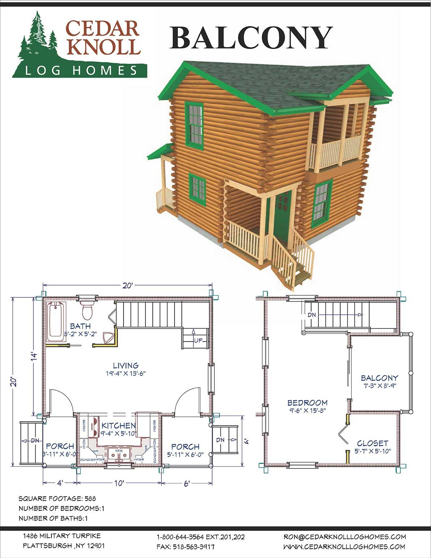 Balcony Log Camp Kit