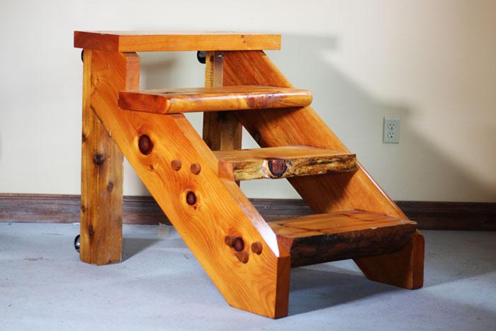 log stair cases by cedar knoll log homes