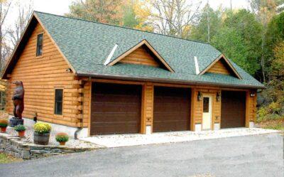 Log Garage Kits