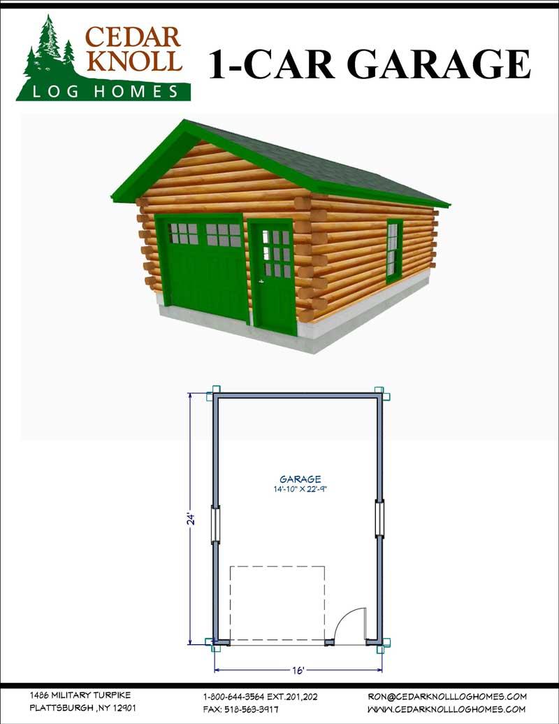One Car Log Garage Kit