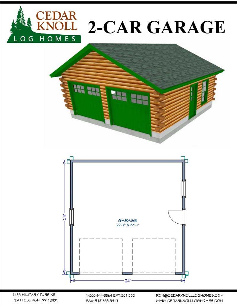 Two Garage Log Kit