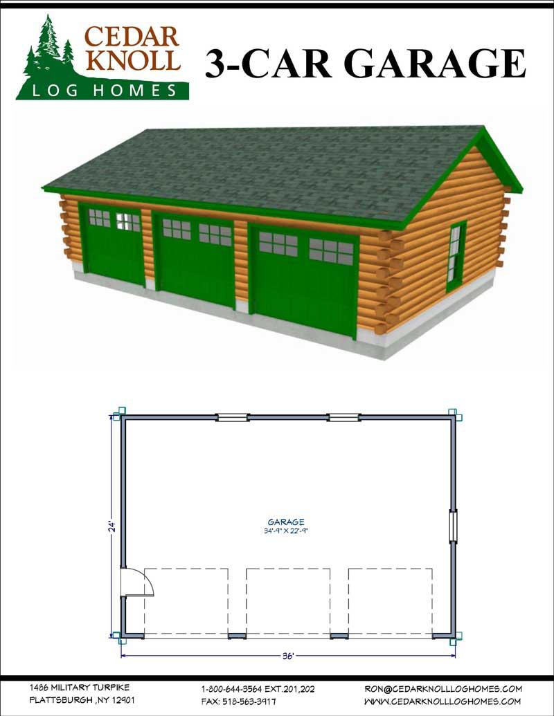 The Three Car Garage Log Kit