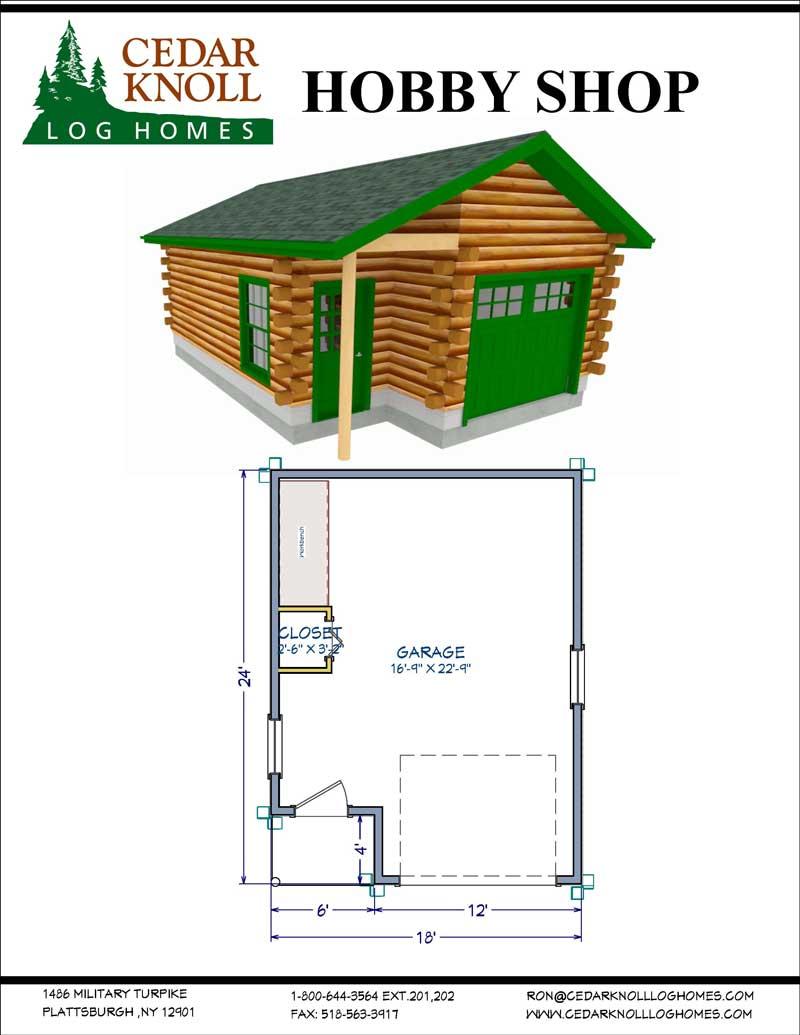 The Hobby Shop Log Garage Kit
