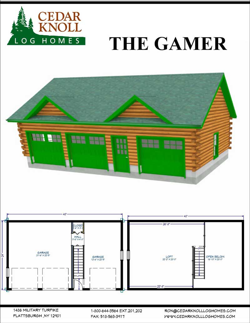 The Gamer Log Garage Kit