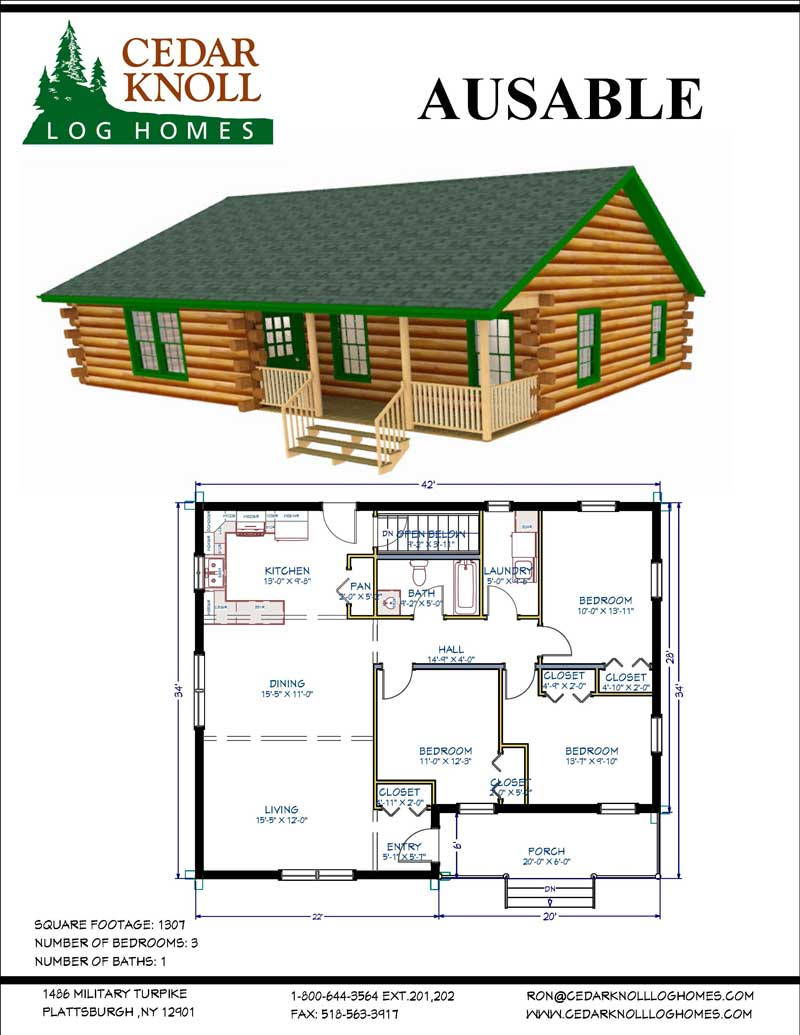 The AuSable Log Home Kit