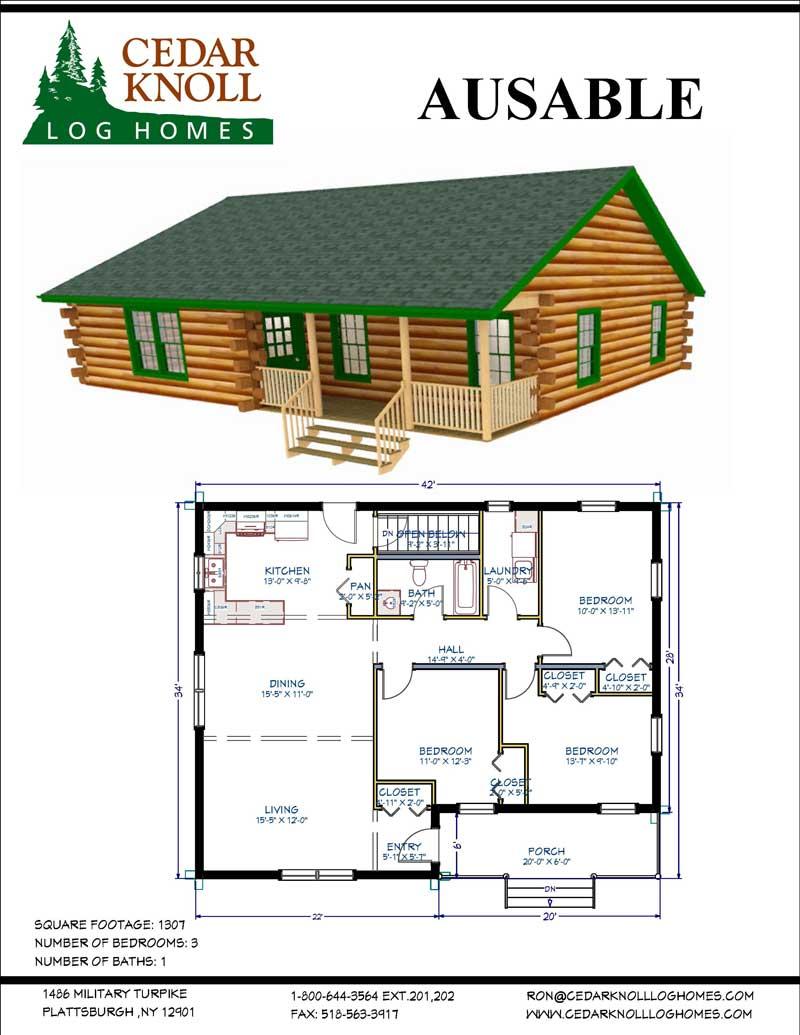 The AuSable Log Home Kit
