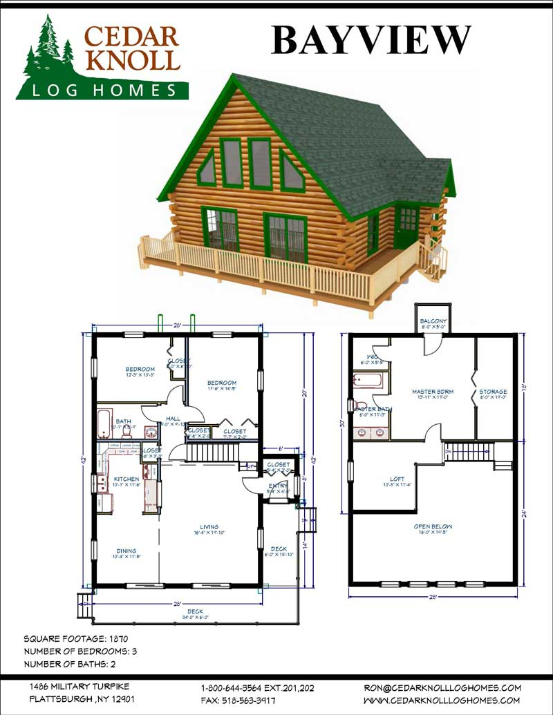 Bayview Log home kit