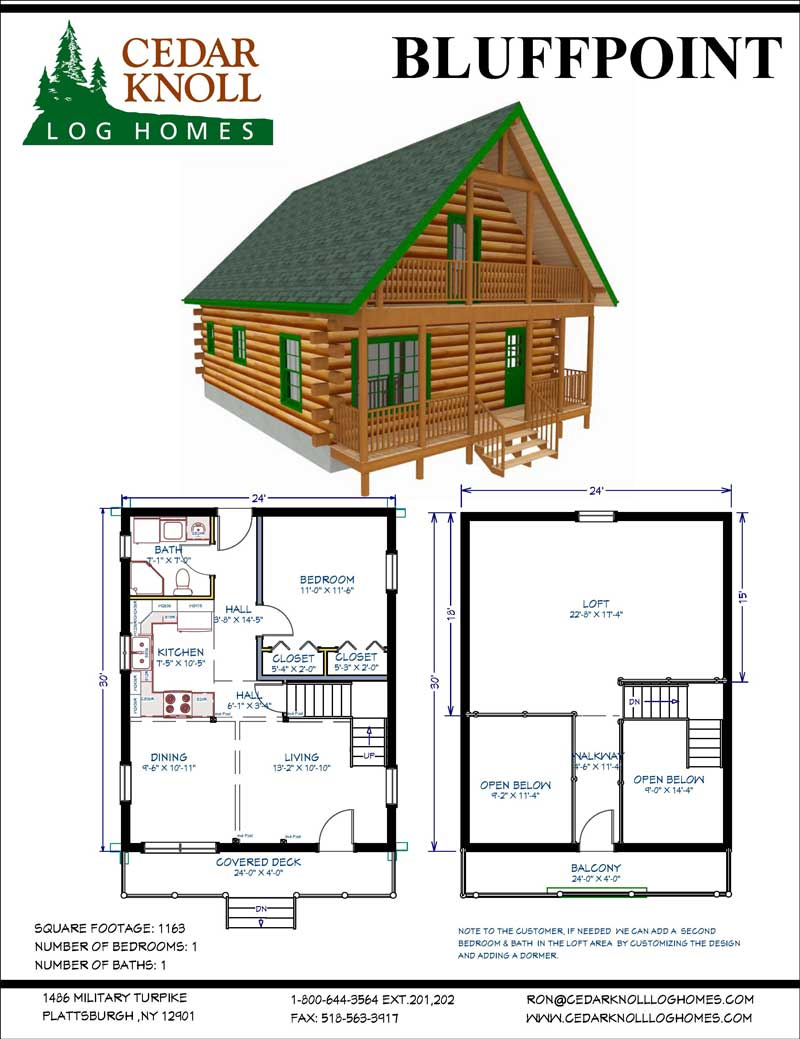 The Bluffpoint Log Home kit