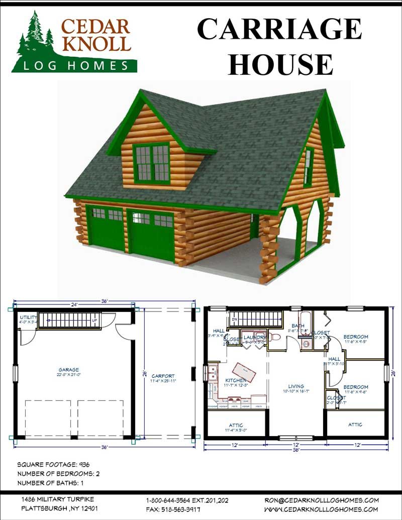 The Carriage House Log Home Kit