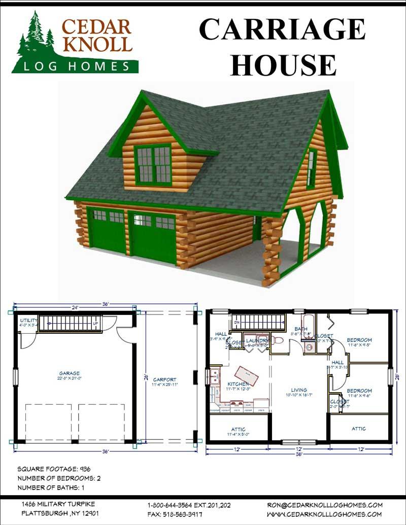 The Carriage House Log Home Kit