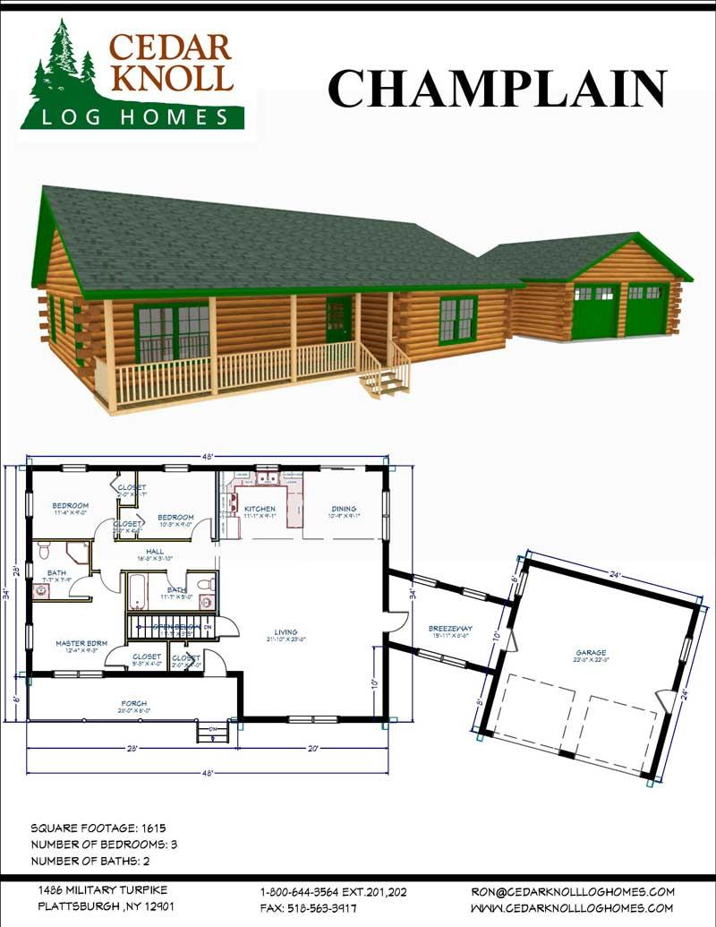 Champlain Log home kit