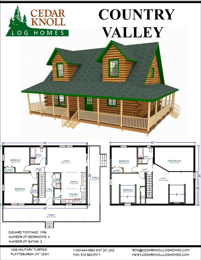 The Country Valley Log Home Kit