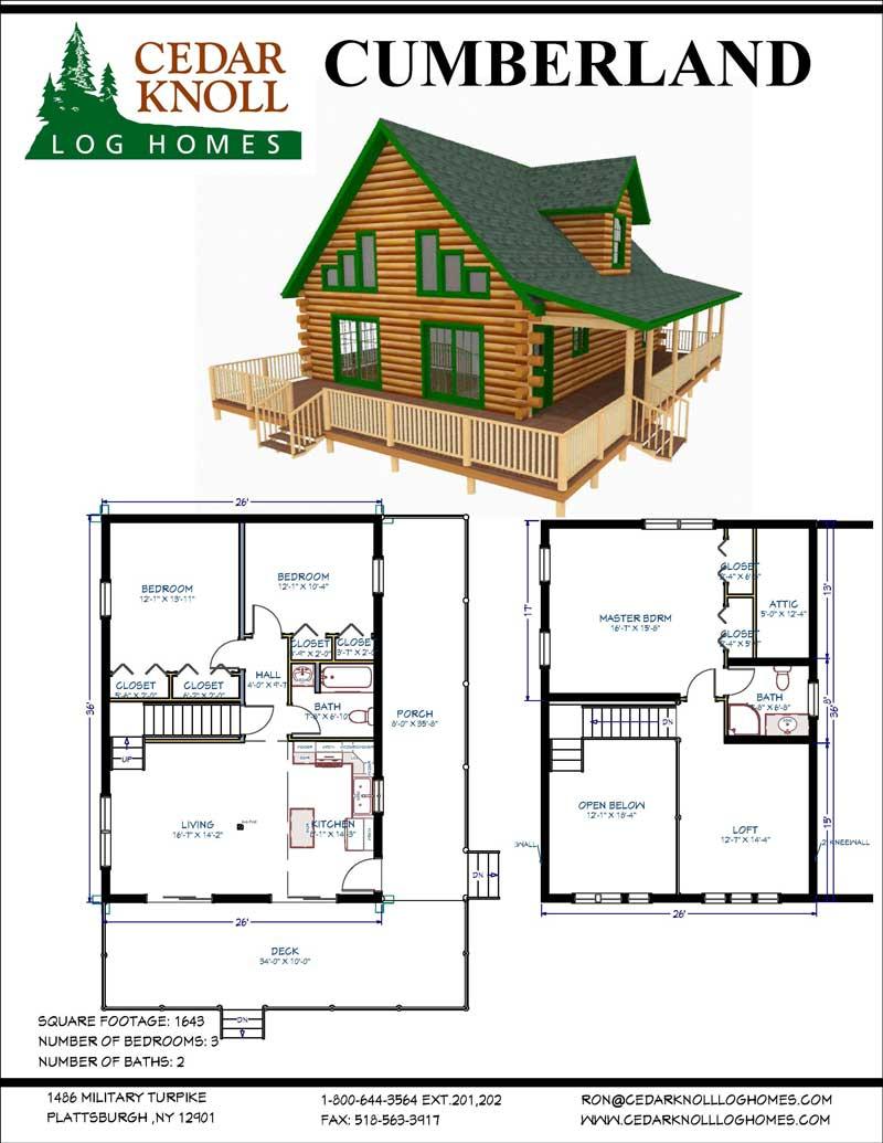 The Cumberland Log Home Kit