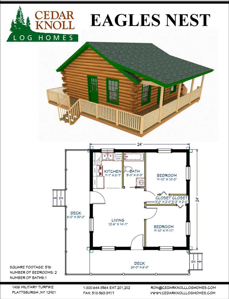The Eagles Nest Log Home kit