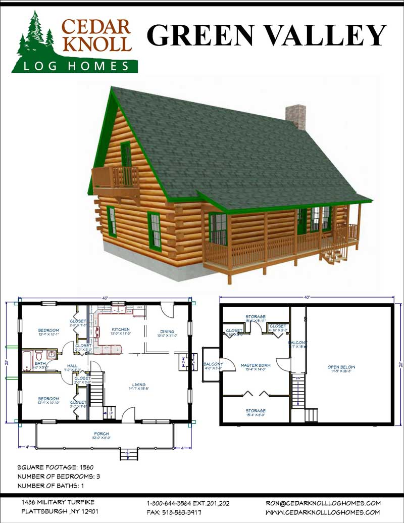 The Green Valley Log Home Kit